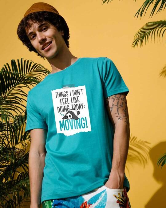 Shop No Moving Half Sleeve T-Shirt-Front