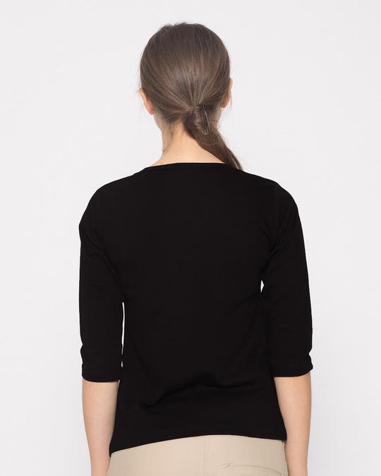 Shop No Name Round Neck 3/4th Sleeve T-Shirt (GTL)-Design