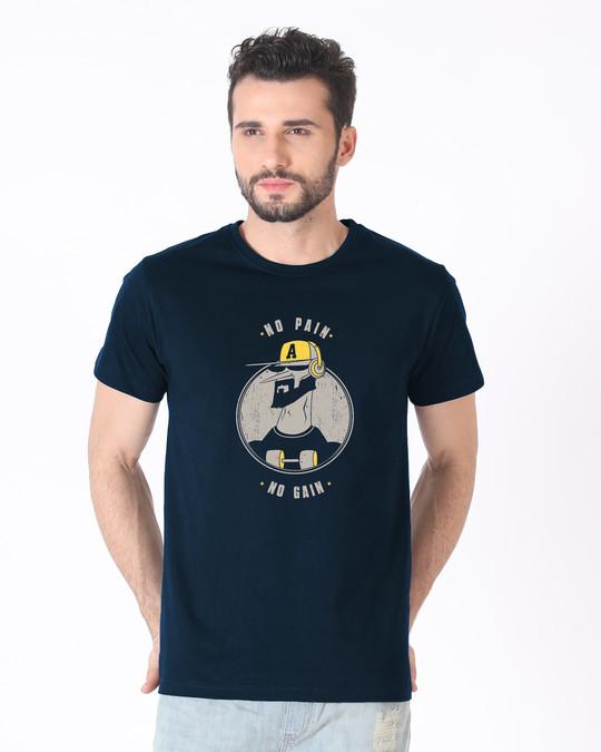 Shop No Pain Character Half Sleeve T-Shirt-Back