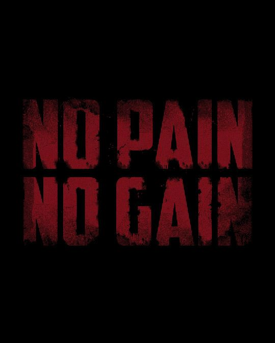Shop No Pain No Gain Round Neck 3/4th Sleeve T-Shirt
