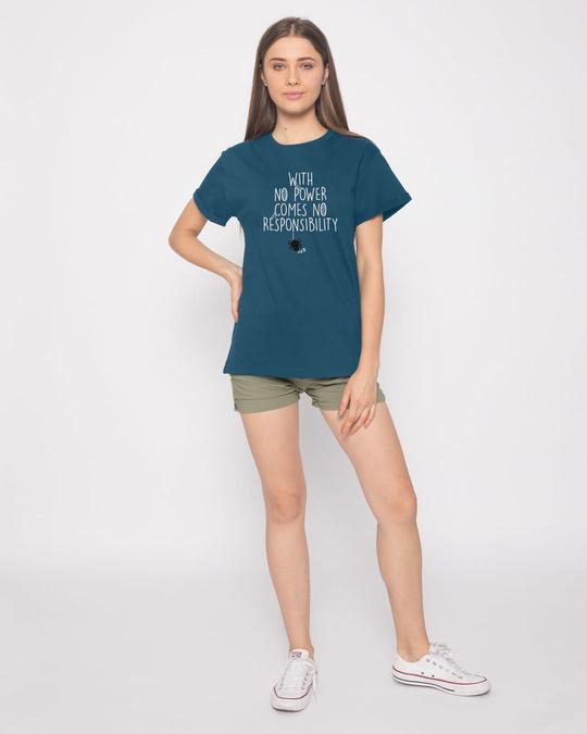 Shop No Power No Responsibility Boyfriend T-Shirt