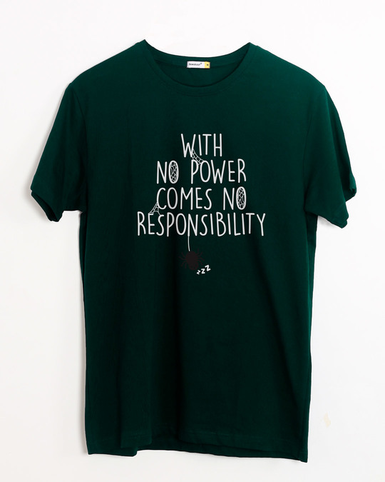 Shop No Power No Responsibility Half Sleeve T-Shirt-Front