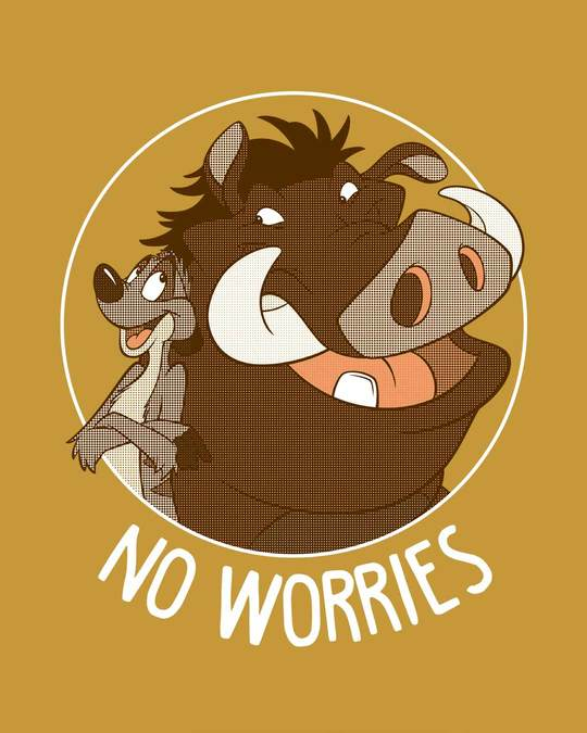 Shop No Worries Timon Pumbaa Full Sleeve T-Shirt (DL)