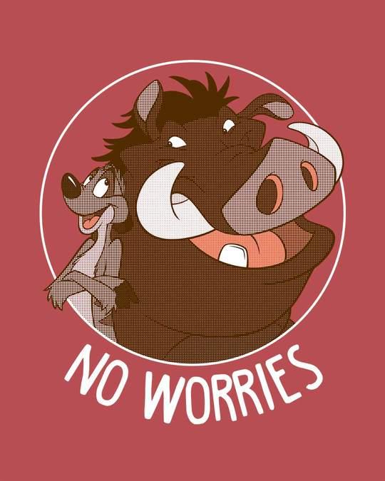 Shop No Worries Timon Pumbaa Half Sleeve T-Shirt (DL)