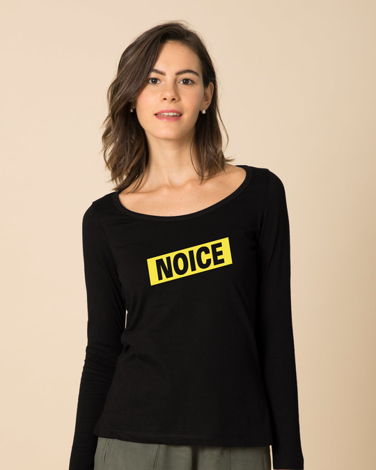 Shop Noice Brklyn 99 Scoop Neck Full Sleeve T-Shirt-Front