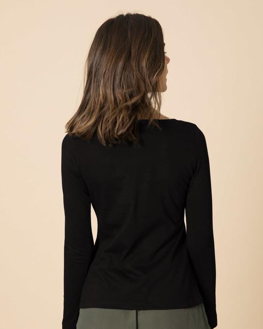 Shop Noice Brklyn 99 Scoop Neck Full Sleeve T-Shirt-Back