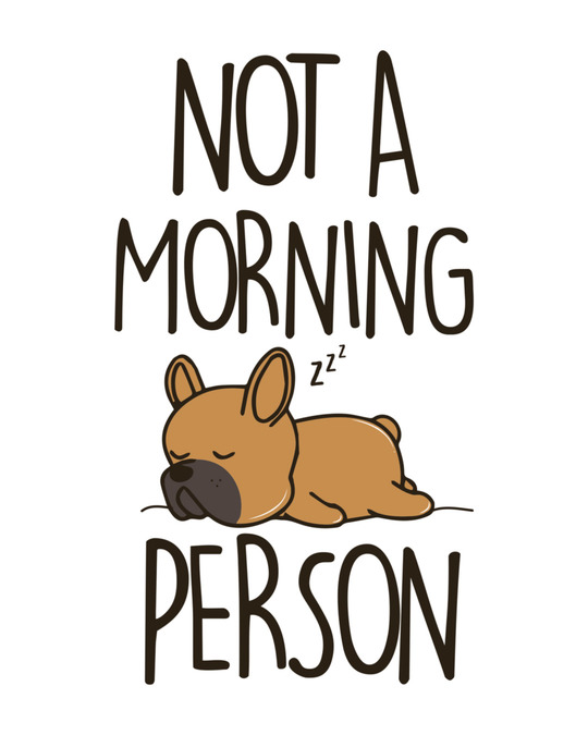 Shop Not A Morning Person Half Sleeve T-Shirt