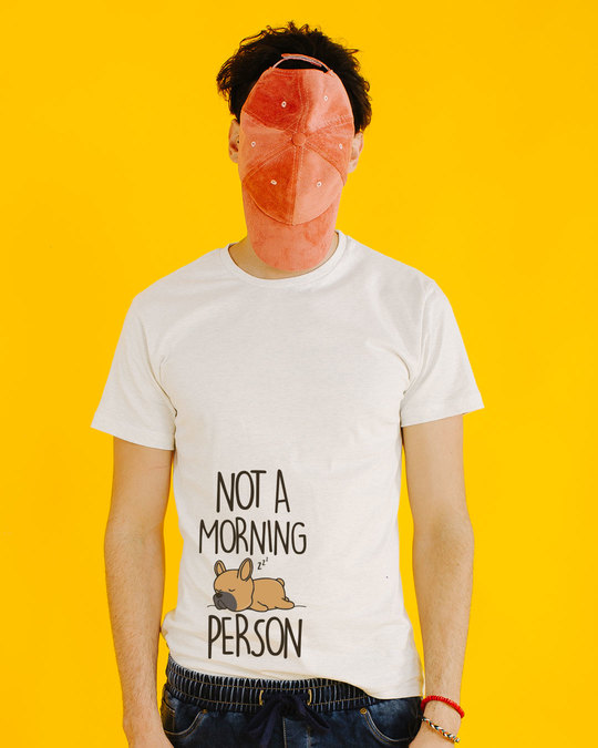 Shop Not A Morning Person Half Sleeve T-Shirt-Front