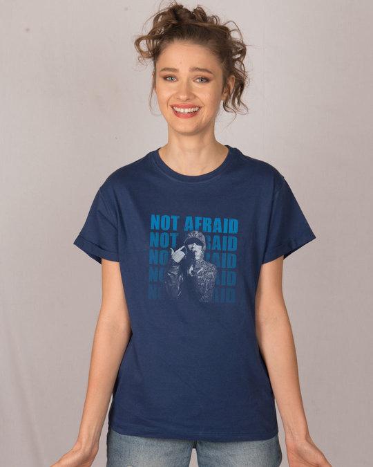 Shop Not Afraid Rap Boyfriend T-Shirt-Front
