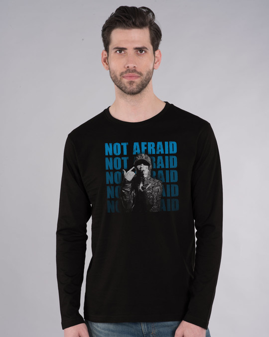 Shop Not Afraid Rap Full Sleeve T-Shirt-Front