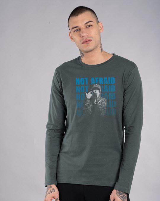 Shop Not Afraid Rap Full Sleeve T-Shirt-Front