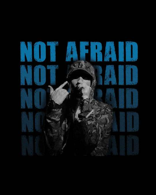 Shop Not Afraid Rap Half Sleeve T-Shirt-Full