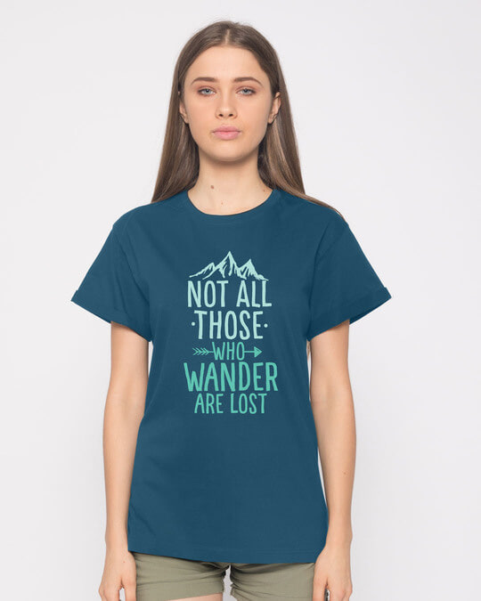 Shop Not All Who Boyfriend T-Shirt-Front