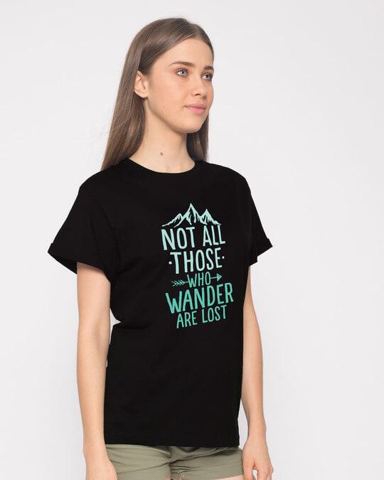 Shop Not All Who Boyfriend T-Shirt-Back