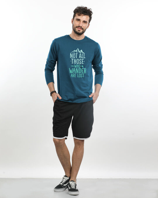 Shop Not All Who Full Sleeve T-Shirt