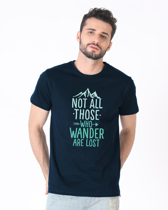 Shop Not All Who Half Sleeve T-Shirt-Back