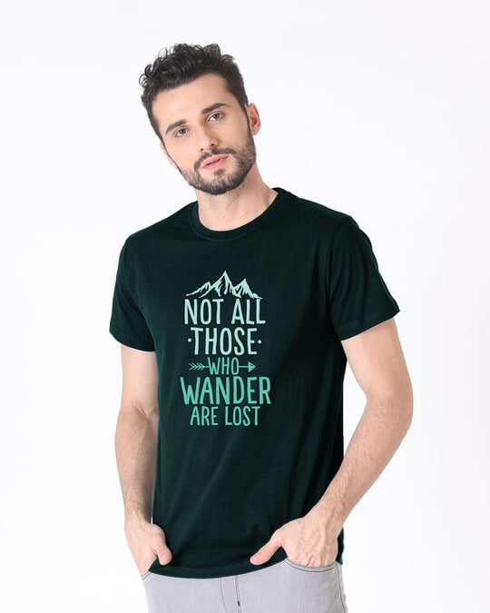 Shop Not All Who Half Sleeve T-Shirt-Design