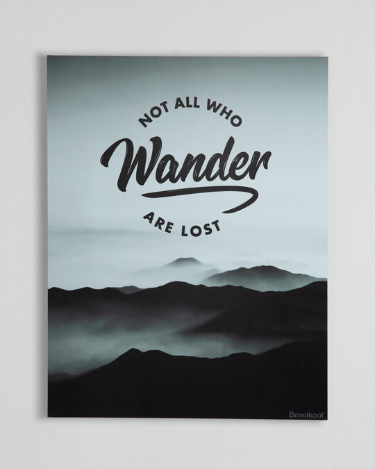Shop Not All Who Wander Designer Wall Frame-Front