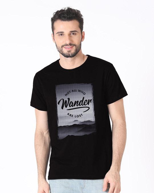 Shop Not All Who Wander Half Sleeve T-Shirt-Back