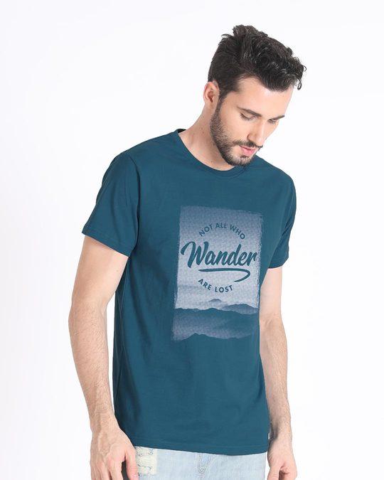 Shop Not All Who Wander Half Sleeve T-Shirt-Design