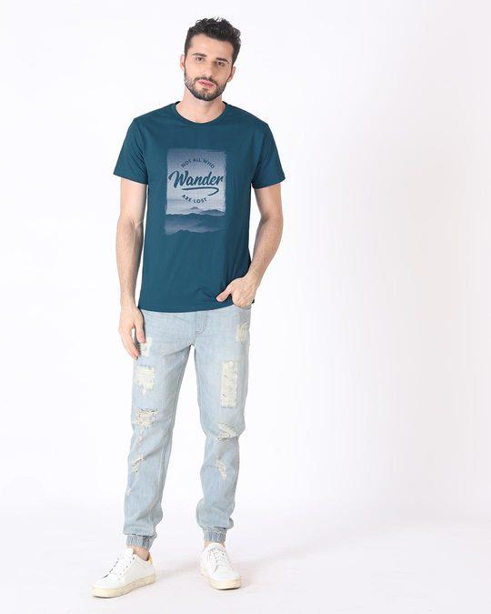 Shop Not All Who Wander Half Sleeve T-Shirt