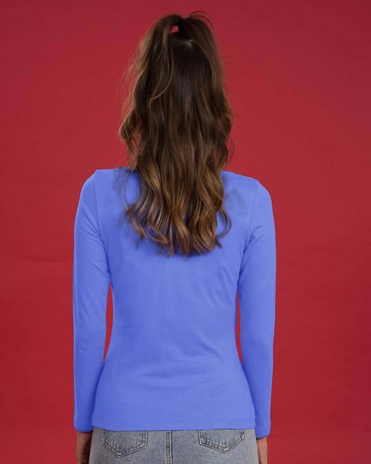 Shop Not Interested Scoop Neck Full Sleeve T-Shirt (DL)-Back