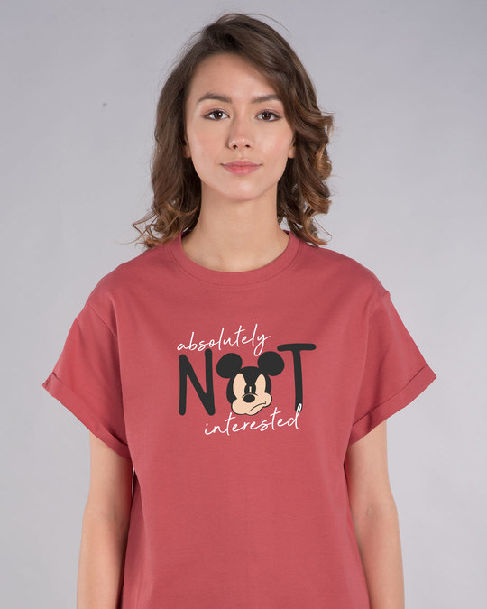 Shop Not Interested Boyfriend T-Shirt (DL)-Front