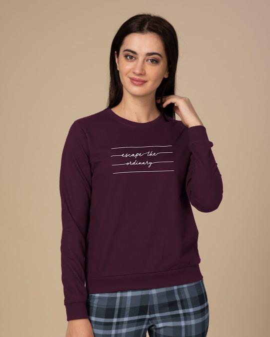 Shop Not ordinary Fleece Sweater-Front