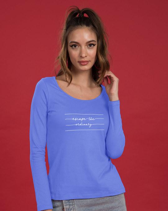 Shop Not Ordinary Scoop Neck Full Sleeve T-Shirt-Back