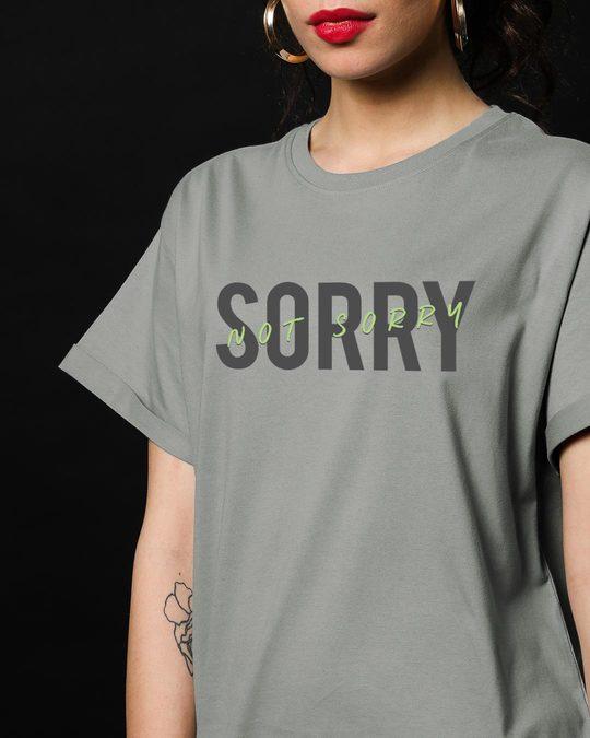 Shop Not Sorry Neon Boyfriend T-Shirt-Front