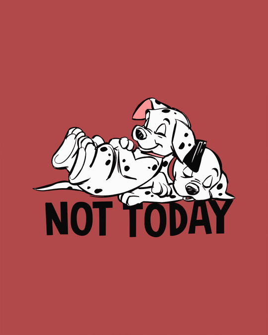 Shop Not Today Dalmations Scoop Neck Full Sleeve T-Shirt (DL)-Full