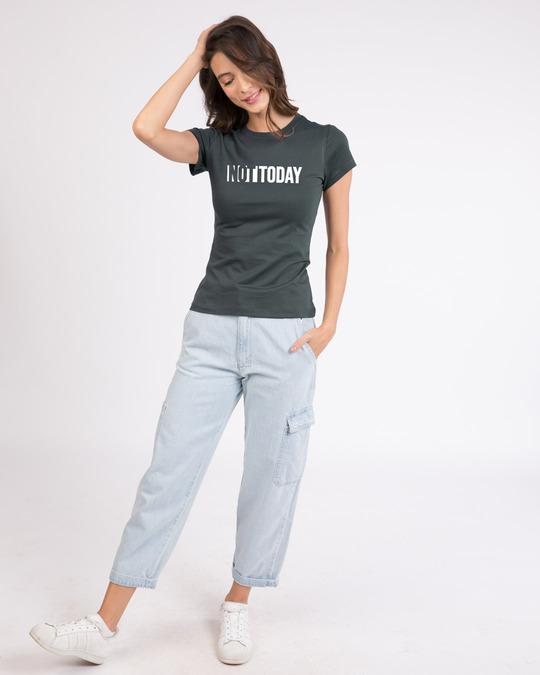 Shop Not Today Monday Half Sleeve T-Shirt-Design