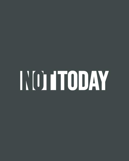 Shop Not Today Monday Half Sleeve T-Shirt-Full