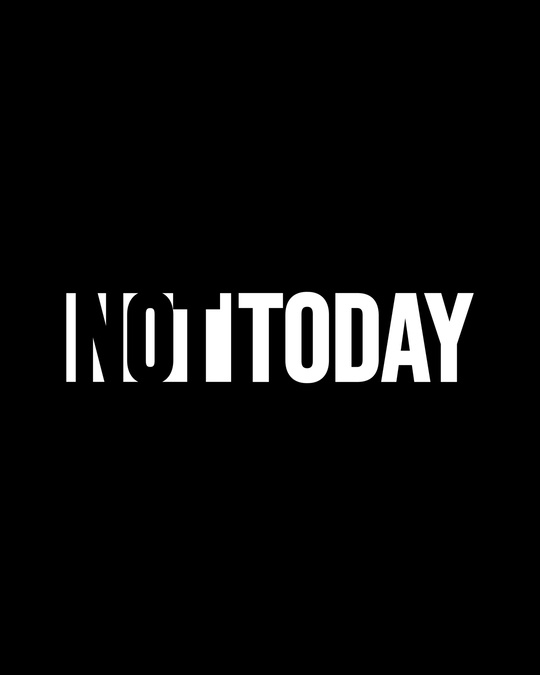 Shop Not Today Monday Round Neck 3/4th Sleeve T-Shirt-Full