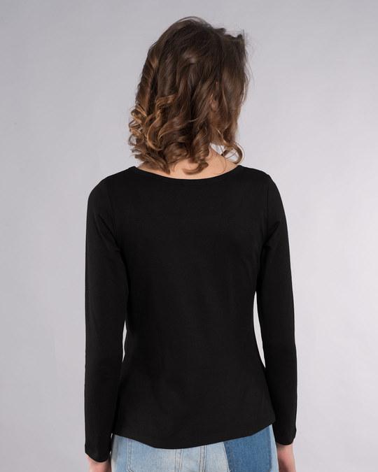 Shop Not Today Tom Scoop Neck Full Sleeve T-Shirt (TJL)-Back