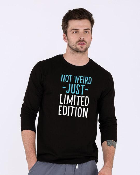 Shop Not Weird Full Sleeve T-Shirt-Front