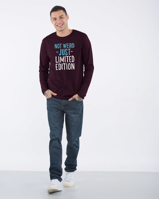 Shop Not Weird Full Sleeve T-Shirt-Design