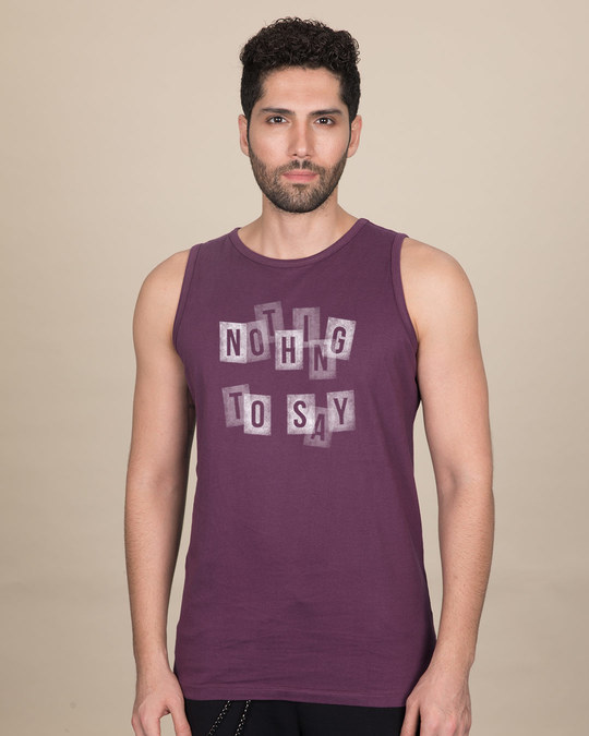 Shop Nothing To Say Vest-Front