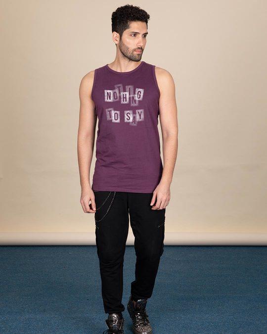 Shop Nothing To Say Vest-Design