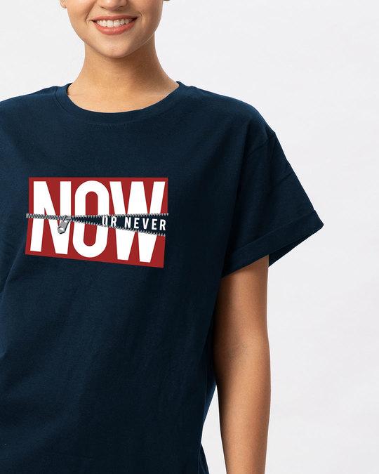 Shop Now Or Boyfriend T-Shirt-Front