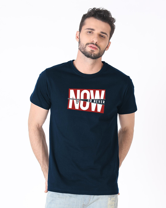 Shop Now Or Half Sleeve T-Shirt-Back