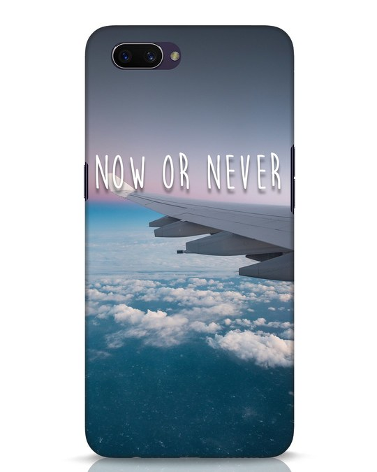 Shop Now Or Never Oppo A3S Mobile Cover-Front