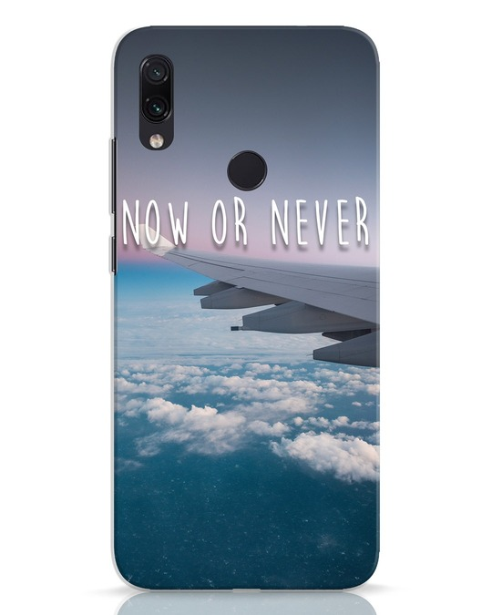 Shop Now Or Never Xiaomi Redmi Note 7 Mobile Cover-Front