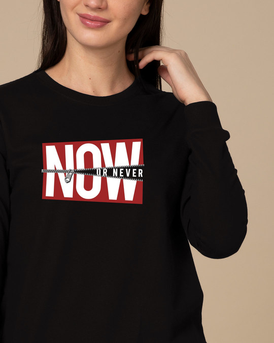 Shop Now Or Sweatshirt-Front