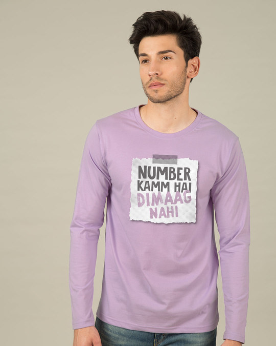 Shop Number Kamm Hai Full Sleeve T-Shirt-Front