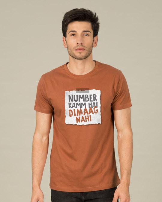 Shop Number Kamm Hai Half Sleeve T-Shirt-Back
