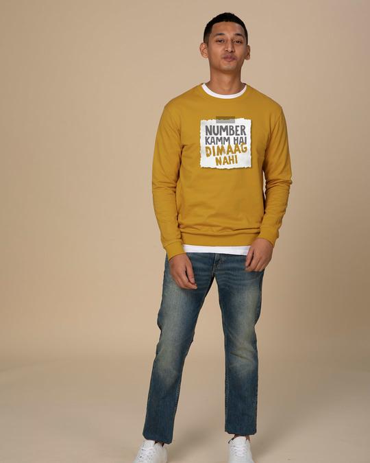 Shop Number Kamm Hai Fleece Light Sweatshirt-Full