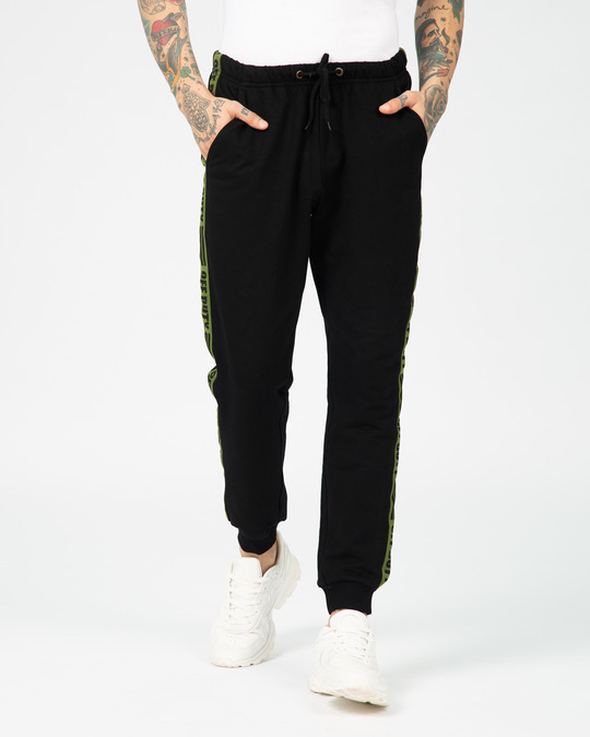 Shop Off Duty Fleece Sports Trim Joggers-Back