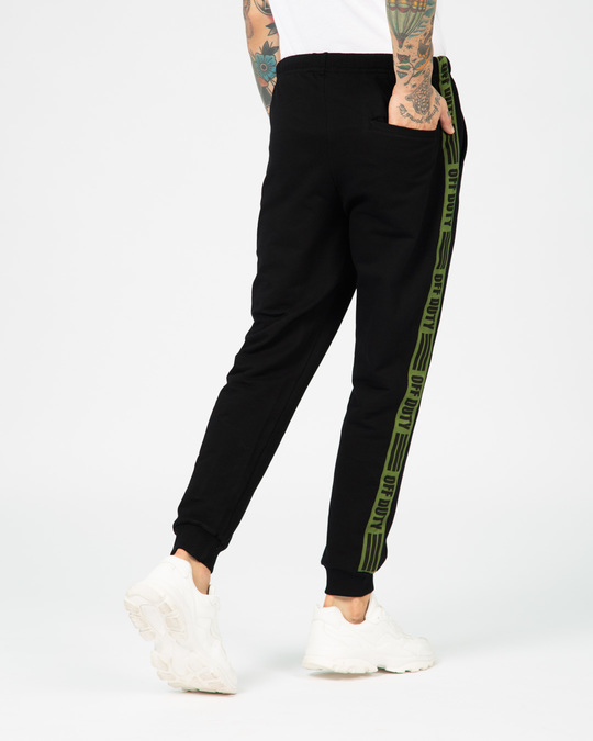 Shop Off Duty Fleece Sports Trim Joggers-Full