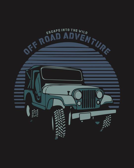 Shop Off Road Jeep Half Sleeve T-Shirt Black-Full